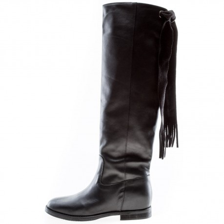 Way Out black high boots...