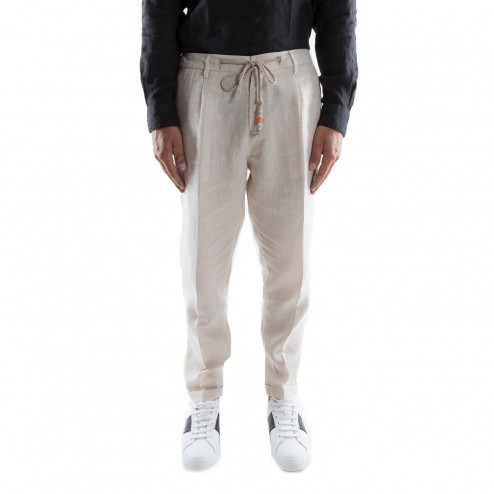 Rope linen trousers outfit