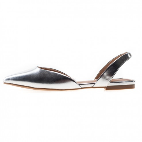 Steve Madden silver pointed...